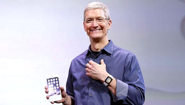 File photo of Apple CEO Tim Cook .