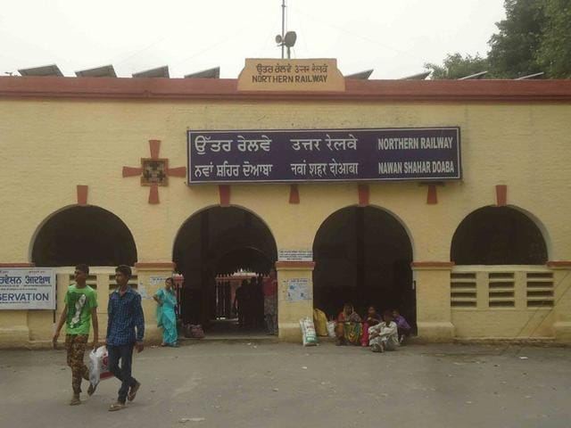 The Nawan Shahar Doaba railway station. (HT Photo