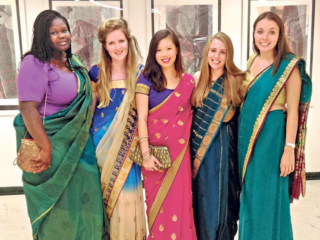 Students from the UK during their recent visit to India.