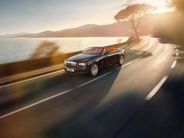 The car is based on the Rolls-Royce Wraith. Photo:AFP