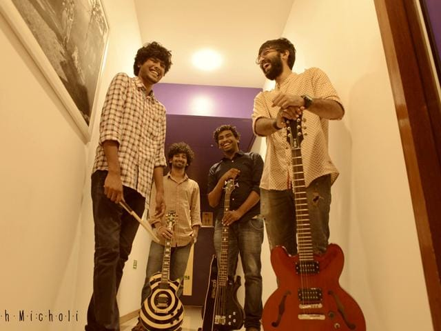 Aankh Micholi is a four-piece folk/fusion alternative rock band that includes Indian regional sounds and Sanskrit shlokas in their compositions.