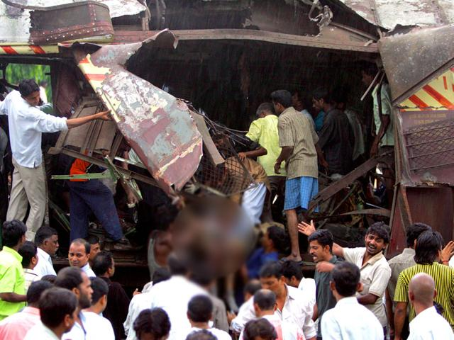 The seven blasts in the suburban trains on July 11, 2006 killed 188 people and injured 829. (HT File Photo)