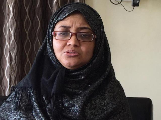 Afshan Jabeen, an Indian woman who was extradited from the UAE to India for allegedly recruiting for Islamic State. (HT Photo)
