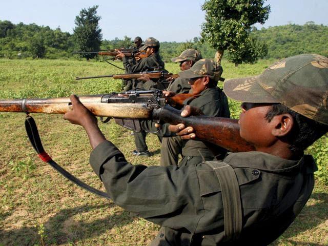 Maoist rebels train in a forest area in Bihar's Gaya district. (AP File Photo)