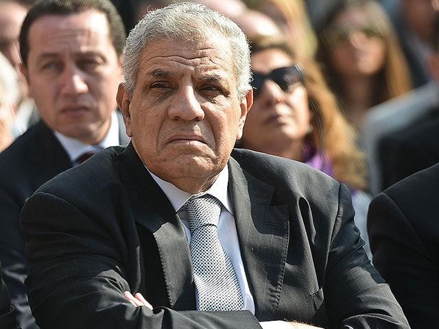 File photo of Egyptian Prime Minister Ibrahim Mahlab attending an inauguration ceremony. The Egyptian government submitted its resignation to President Abdel Fattah al-Sisi days after the agriculture minister was arrested over corruption. (AFP Photo)