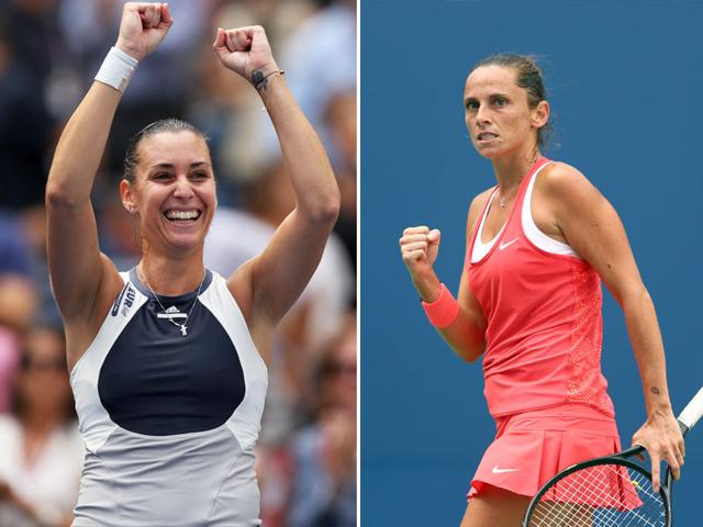 A composite photograph of Flavia Pennetta, left, and Roberta Vinci.