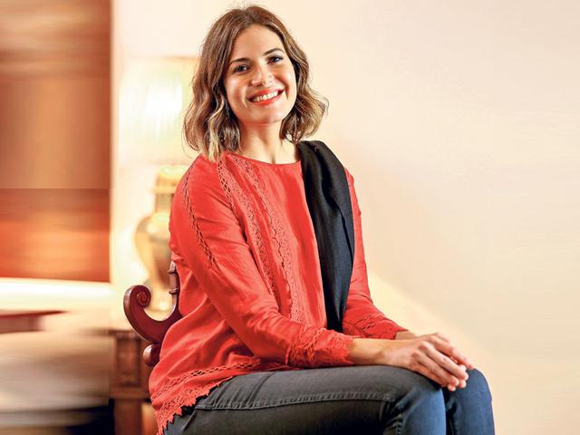 Actor-singer Mandy Moore, who is here to support the cause of gender-based violence as a part of the Population Services International's Project Wajood, as their ambassador, says that she is glad she got the chance to talk to women in India. (HT Photo)