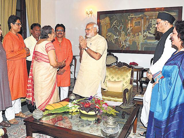 Netaji's grandnephews and other family members had also met PM Modi in May in Kolkata. (PIB file)