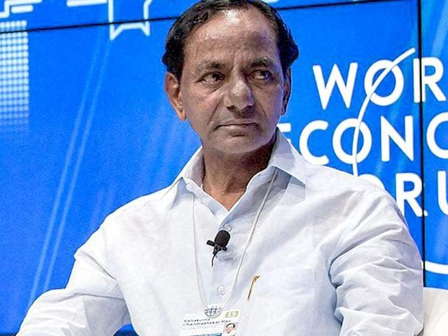"""Political rivals have dubbed K Chandrasekhar Rao as """"Rollback CM"""" after a series of decisions he took upon becoming the first chief minister of the country's newest state in June last year were shelved under public pressure. (PTI Photo)"""