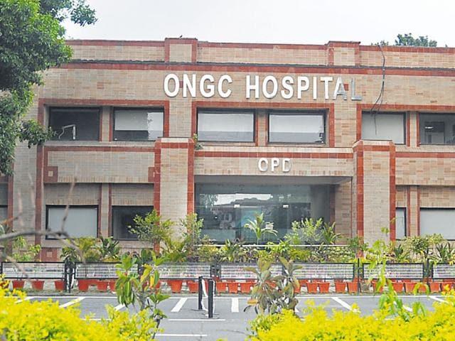 The ONGC Hospital in Dehradun. (Vinay Santosh Kumar/HT Photo)