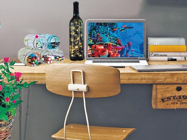 diy office makeover how to decorate your boring work desk