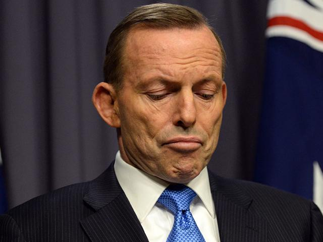 Ousted Australian prime minister Tony Abbott speaks during a press conference in the Blue Room, at Parliament House in Canberra. (EPA Photo)