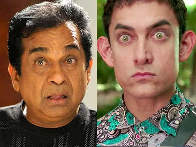 Brahmanandam has emulated Aamir Khan's PK look in Telugu film Garam.
