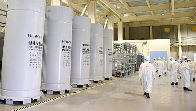 Japan's Tokyo Electric Power Co. displays the filtering facility to purify groundwater at the crippled Fukushima Daiichi Nuclear Power Plant in Okuma, Fukushima Prefecture.