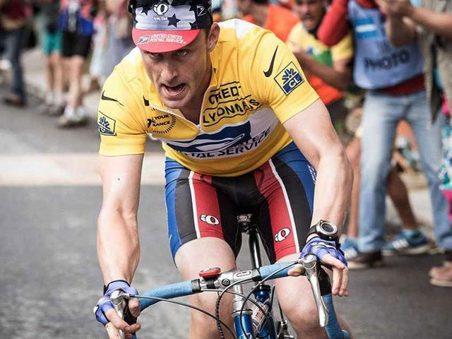 Ben Foster as the tainted champion Lance Armstrong. (Twitter)