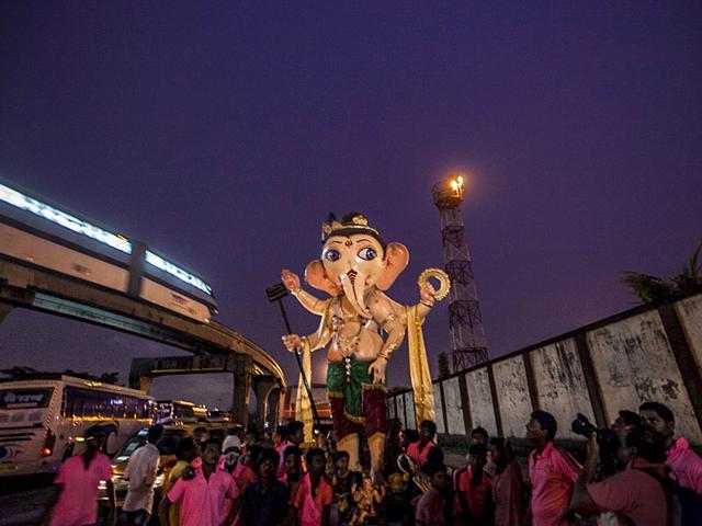 Ganesh immersion,Ganesh festival,Ganesh idol