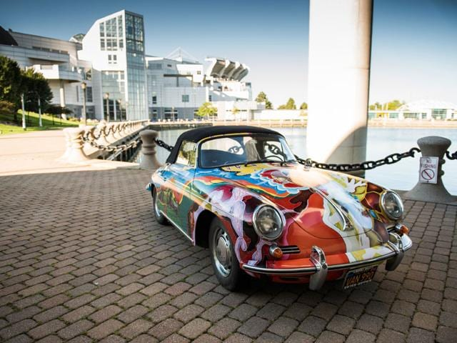 Janis Joplin Porsche, RM Sotheby's auction. Photo:AFP
