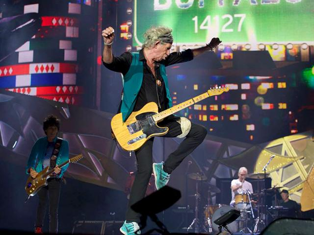 Keith Richards is busy promoting Crosseyed Heart, his first solo album in more than 20 years. Seen here, Keith performs in Buffalo, July 11, 2015. (officialkeef/Facebook)