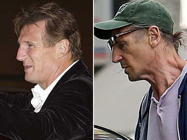 Liam Neeson: Then and now