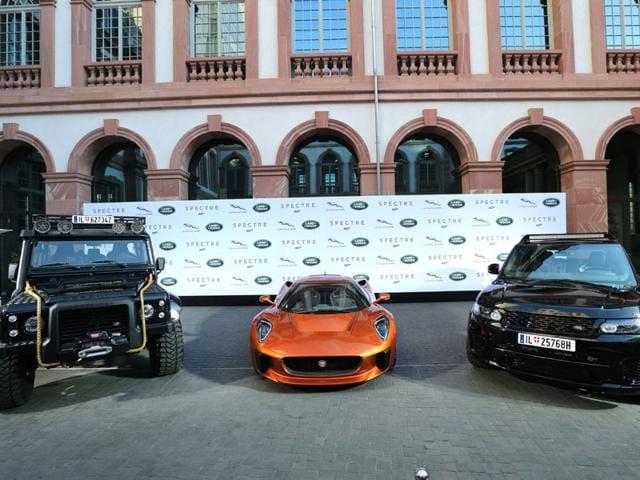 The Land Rover Defender, Jaguar C-X75, and Range Rover Sport SVR from James Bond film