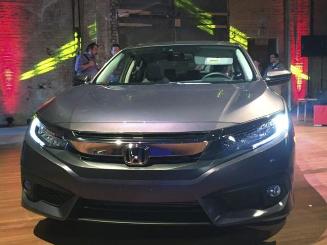 The new 2016 Honda Civic is unveiled in Detroit, Michigan September 16, 2015. Honda Motor Co unveiled the tenth generation of its Civic small car Wednesday, aiming to reinvigorate its best-selling model at a time when many consumers are bypassing small sedans for sport utility vehicles. Photo: Reuters