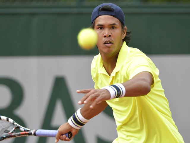 Somdev Devvarman beat Jiri Vesely 7-6 (3), 6-4, 6-3 in the second singles rubber of the Davis Cup World Group Playoff tie against Czech Republic, on September 18, 2015.