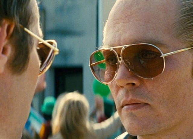 Say hello to my little friend. Johnny Depp as Whitey Bulger in Black Mass.