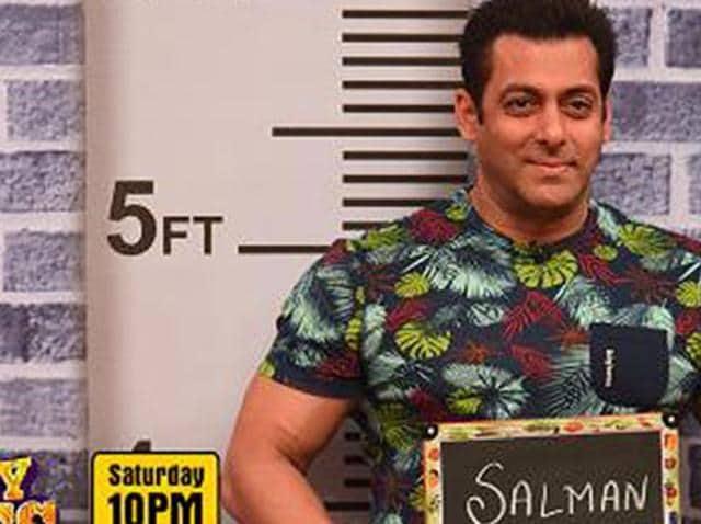 Salman Khan at the sets of Comedy Nights Bachao.