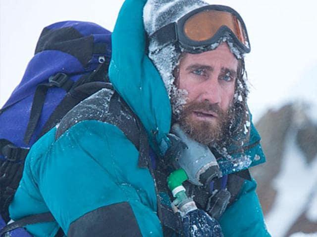 Jason Clark braves the storm in Everest.