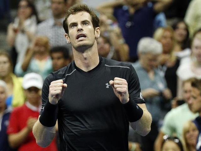 Andy Murray of Britain after beating Thomaz Bellucci of Brazil during the third round of the 2015 US Open in New York, on September 5, 2015.
