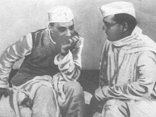 An archival photo of Subhash Chandra Bose.