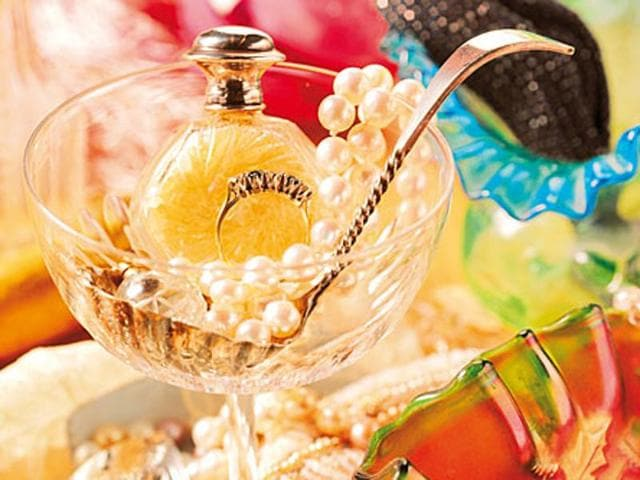 There's a lot you can do with old perfume bottles to light up your room