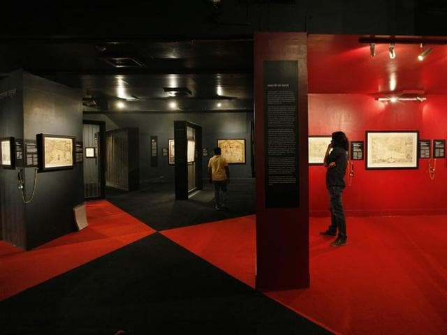New Delhi, India - Sept. 17, 2015: People looking the exhibits