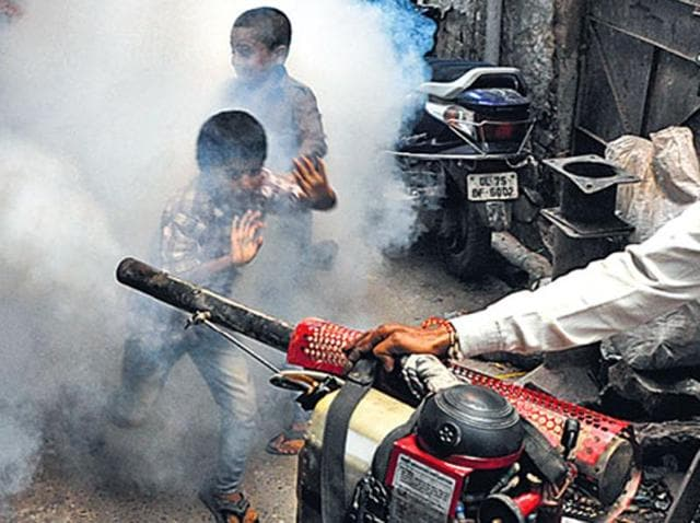 Despite civic agencies stepping up fogging efforts, there has been a spike in dengue cases across Delhi.