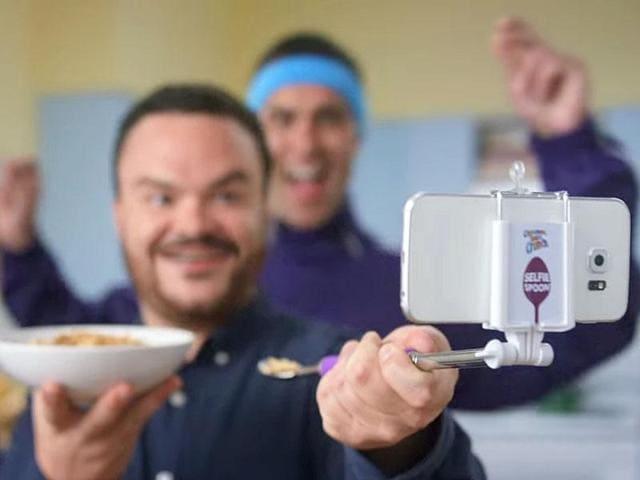 Selfie Spoons,Selfie Stick,Cinnamon Toast Crunch