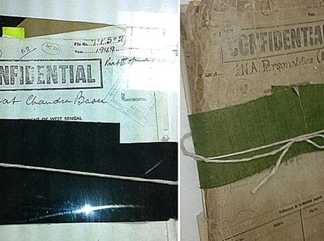 A combination of two close-up images of the declassified Netaji files.