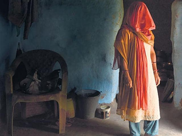 A survivor at her home in Gumla district, where she has become an outcast.