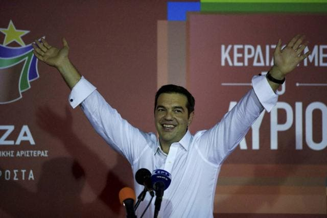 Left-wing Syriza party leader Alexis Tsipras formed his new government in Greece after winning the election on Sept 20.