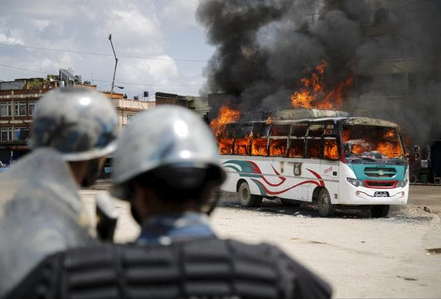 Nepal,New Constitution,Protest