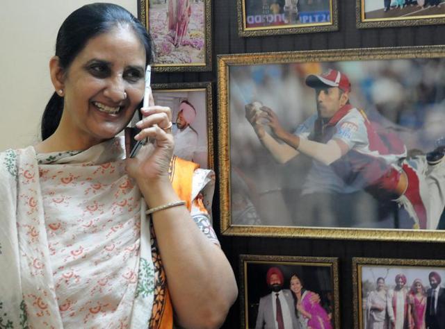Amarpreet Kaur, mother of cricketer Gurkeerat Singh Mann.