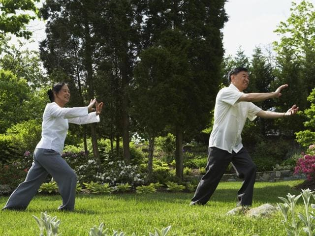 Tai Chi consists of slow, gentle, flowing movements that aim to boost muscle power, balance, and posture.