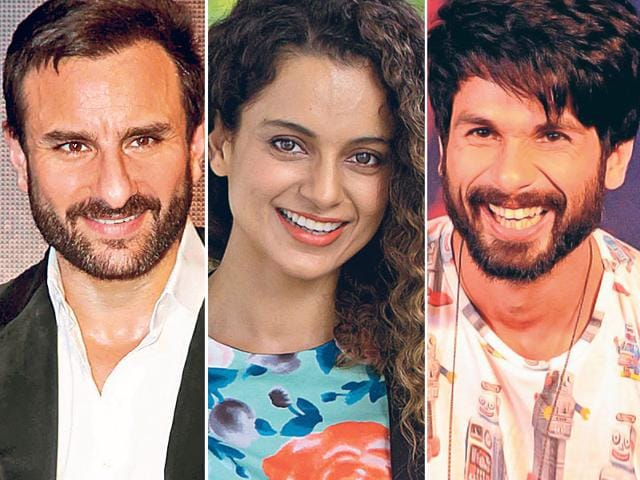 Several movies are exploring unusual casting options and their unconventional pairings are getting people talking. And the pairing of Saif Ali Khan, Shahid Kapoor and Kangana Ranaut is one of them. Kangana is set to work with Saif and Shahid in Vishal Bhardwaj's next.