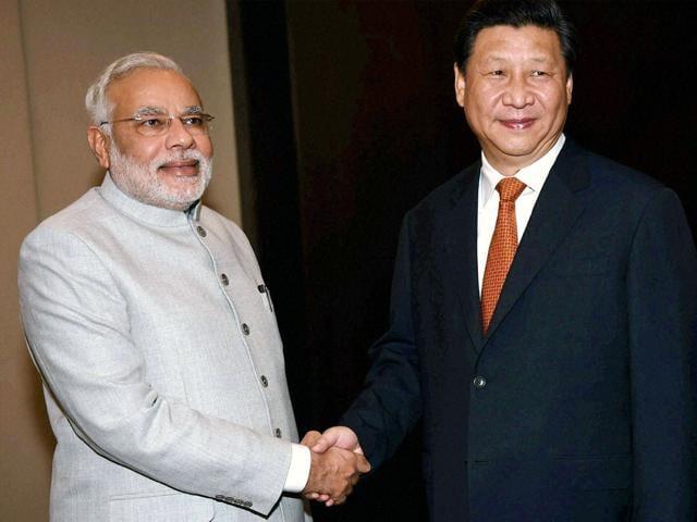 Prime Minister Narendra Modi with Chinese President Xi Jinping.(PTI File Photo)