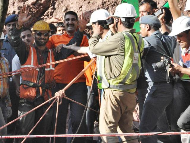 The two labourers were rescued after being trapped in a tunnel for 9 days in Bilaspur district of Himachal Pradesh.