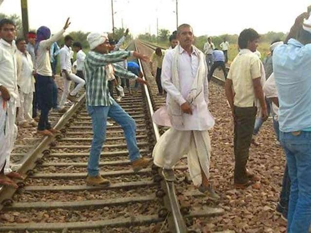 Members of Gujjar community had blocked railway tracks in Bharatpur Rajasthan as part of the quota agitation.