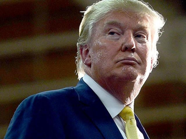 """File photo of US Republican presidential candidate Donald Trump. He has said India will have to be roped in by the US to deal with the fallout of Pakistan becoming """"unstable"""" in the future."""