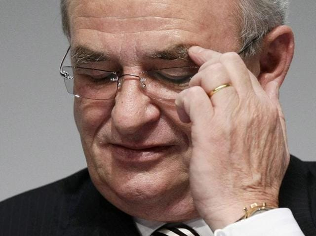 Volkswagen AG's Chief Executive Officer Martin Winterkorn attends the company's annual news conference in Stuttgart, Germany.