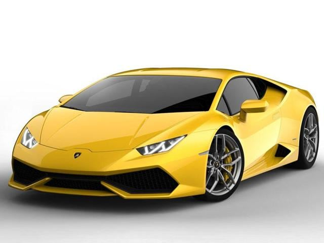 The Lamborghini Huracán (€201,000/$241,000) : Lamborghini likes to do things differently so while all the other supercar makers are experimenting with turbochargers, the raging bull is sticking firmly with a normally aspirated V10 for its latest model. That means that there is no noticeable lag from the 610bhp engine when burying your foot in the carpet although it is very slightly slower off the mark - 3.2 seconds to hit 100km/h but the car will go on to hit nearly 330km/h and that four-wheel-drive system will make sure it stays glued to the road. Photo:AFP