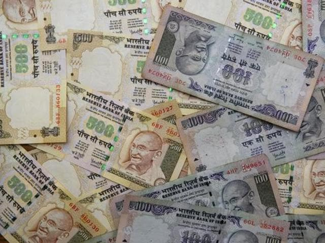 The rupee fell by 24 paise to 66.22 against the USdollar.