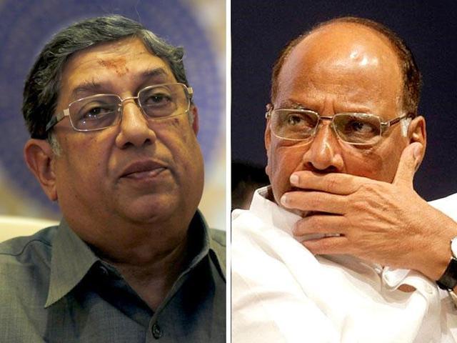 N Srinivasan,Sharad pawar,BCCI